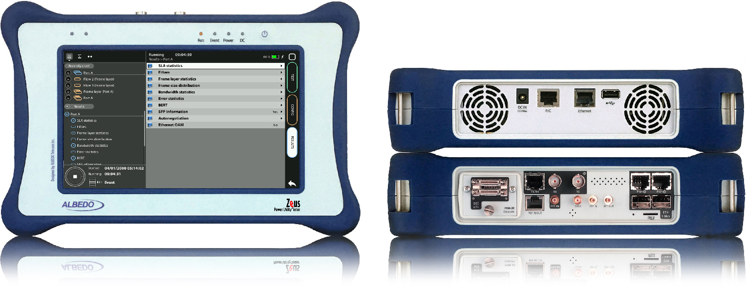 Network Tester to install and maintain the (tele)communications of the power industry
